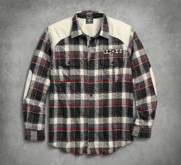 Men's Elbow Patch Flannel Shirt 96474-18VM
