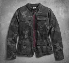 Harley-Davidson® Women's Skull Jacquard Jacket 96040-18VW