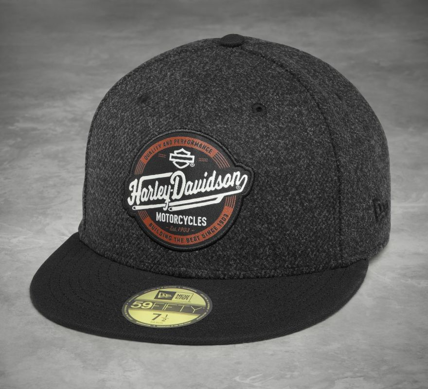 Harley-Davidson® Men s Black 59 Fifty Circle Patch Baseball Cap 97805-18VM e90a6928f465