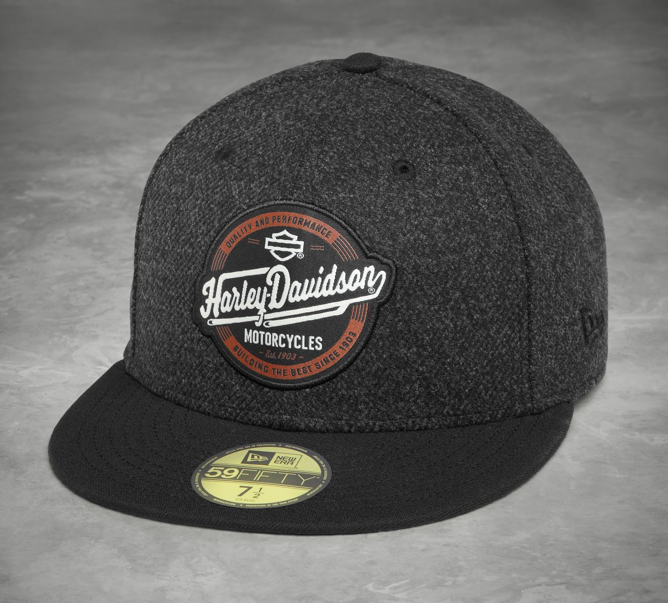 Harley-Davidson® Men s Black 59 Fifty Circle Patch Baseball Cap ... 2ca86c7cb713