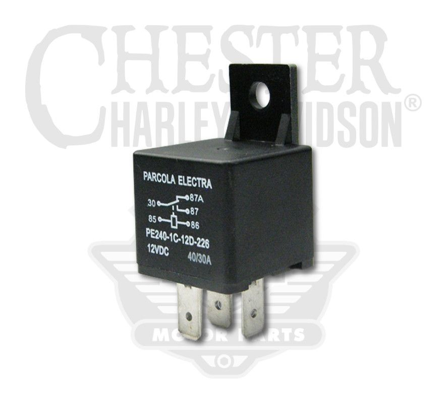 Harley-Davidson® Starter Relay with Diode on