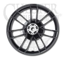 Harley-Davidson® Gloss Black Anodized 7 Spoke Rear Wheel Assembly 8x5 40900519