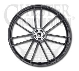 Harley-Davidson® Gloss Black Anodized 7 Spoke Front Wheel Assembly 21x3.5 43300524