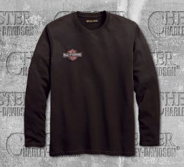 Harley-Davidson® Men's Anthracite Embroidered Long Sleeve Tee 99091-18VM