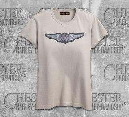 Harley-Davidson® Women's Overcast Winged Logo Short Sleeve Tee 99101-18VW