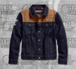 Men's Waxed Canvas Slim Fit Denim Jacket
