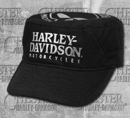 Harley-Davidson® Women's Black Foil Skull Flat Top Cap 99440-18VW
