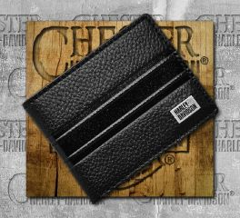 Harley-Davidson® Men's Black Embossed Stripe Bi-Fold Wallet 99433-18VM