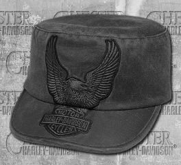 Harley-Davidson® Women's Eagle Appliqué Flat Top Cap 99446-18VW