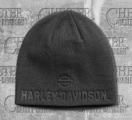 Harley-Davidson® Men's Asphalt Debossed Knit Hat 99430-18VM