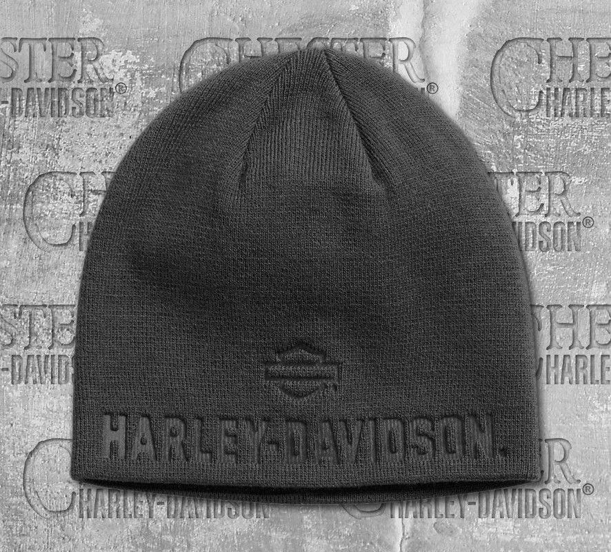 2cd1dfb828c Harley-Davidson® Men s Asphalt Debossed Knit Hat 99430-18VM ...