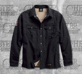 Harley-Davidson® Men's Black No.1 Genuine Classics Long Sleeve Shirt Jacket 99044-18VM