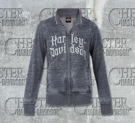 Harley-Davidson® Women's Grey High Zip Neck Fleece R002317