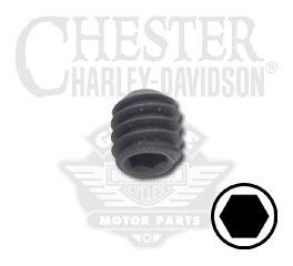 "Harley-Davidson® Set Screw 1/4""-20 x 1/4"" UNC Hex Drive Cup Point 4695"