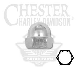 "Harley-Davidson® Low Crown Acorn Nut 1/4""-20 UNC 94012-00"