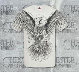 Men's Ice Grey Overall Eagle Short Sleeve Tee, RK Stratman Inc. R002441