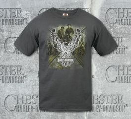 Men's Grey Upwing Race Short Sleeve Tee, RK Stratman Inc. R002606