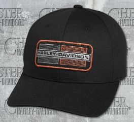 Harley-Davidson® Men's Black Embroidered Appliqué Cap 97644-18VM