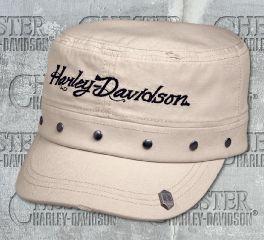 Harley-Davidson® Women's Stone Studded Flat Top Cap 97657-18VW