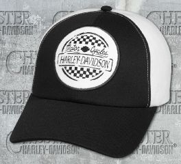 Harley-Davidson® Women's Black Race Patch Cap 97655-18VW
