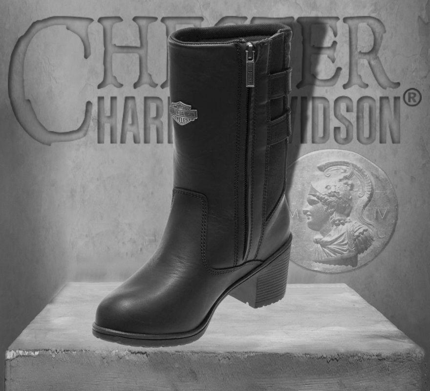 dc69fa5e2a6 Harley-Davidson® Women's Kirkley 8-Inch Waterproof Black Motorcycle Boots