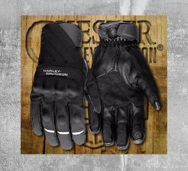 Harley-Davidson® Men's Farson Leather Full Finger Gloves 97104-18EM