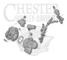 Harley-Davidson® 34mm Manifold Fuel System Assembly 27200007