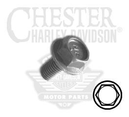 "Harley-Davidson® Screw 1/4""-28 x 1/2"" UNF Serrated Hex Flange Head with Lockpatch 3537"