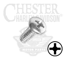 "Harley-Davidson® Screw No. 8-32 x 3/8"" UNC Phillips Pan Head Self-Tapping 90770-79"