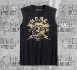 Harley-Davidson® Men's Black Milwaukee Metal Slim Fit Muscle Tee 96154-18VM