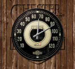 Nostalgic Harley-Davidson® Wall Clock Speedometer Style, Nostalgic Art 51084