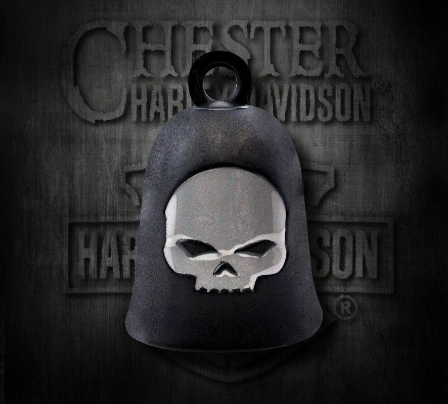 081b5d9e Harley-Davidson® Black Matte Willie G Skull Ride Bell, MOD Jewelry Group Inc