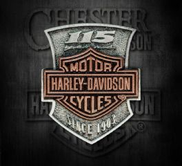 Harley-Davidson® 115th Anniversary 2D Die Struck Pin, Global Products, Inc. P260232