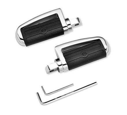 Harley-Davidson® Slotted Chrome & Rubber Footpegs 43280-01