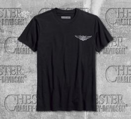 Harley-Davidson® Men's Black Own a Harley® Slim Fit Short Sleeve Tee 96229-18VM