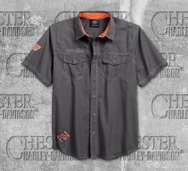 Harley-Davidson® Men's Asphalt Screamin' Eagle® Short Sleeve Shirt 96287-18VM