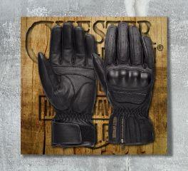 Harley-Davidson® Men's Blackout CE-Certified Leather Gloves 98179-18EM