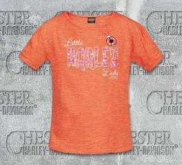 Harley-Davidson® Girls Toddler Little Lady Tee Top T-Shirt, RK Stratman Inc. R002266