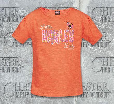 Harley-Davidson® Girls Toddler Little Lady Tee Top T-Shirt, RK Stratman Inc. R002266