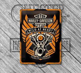 Harley-Davidson® Nostalgic B&S® Wild At Heart Tin Sign, PRIME GmbH 23222