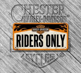 Harley-Davidson® Nostalgic Art Riders Only Hanging Sign, Nostalgic Art 28003