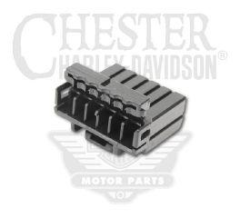 Harley-Davidson® Single Row 6-Way Socket Housing 73156-96BK