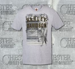 Harley-Davidson® Men's Heather Grey Let Her Ride Short Sleeve Tee, RK Stratman Inc. R002718