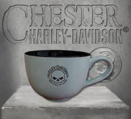 Harley-Davidson® Willie G SKull Flat Logo Latte Mug, OkisOnent GmbH HD-HD-921