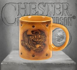 Harley-Davidson® Sculpted Ceramic Live to Ride Coffee Cup, OkisOnent GmbH HD-LTR-1760
