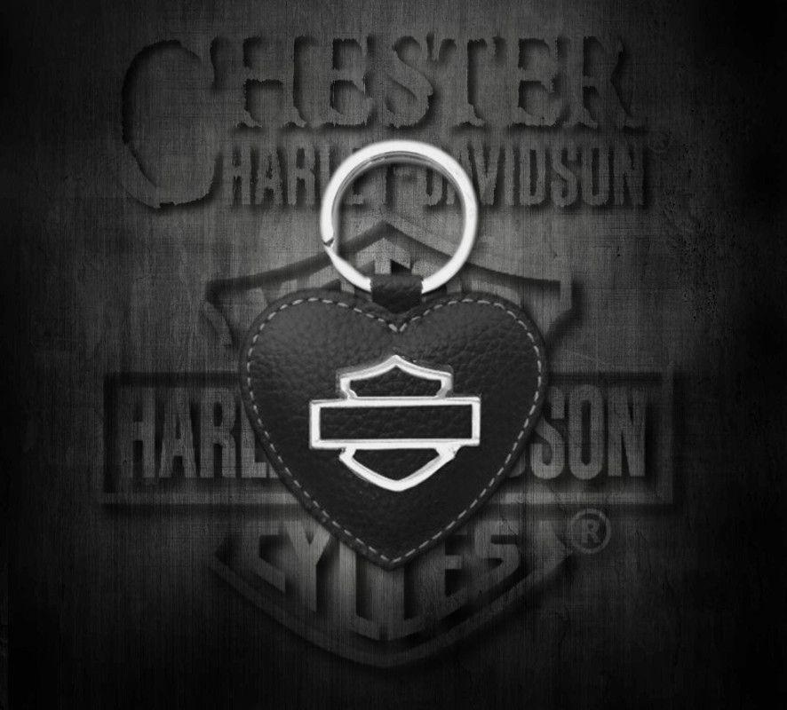 Harley-Davidson® Women s Bar   Shield Heart Medallion Key Fob ... 4f178e12df