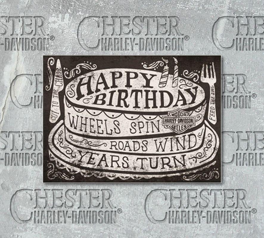 Harley Davidson Roll On Birthday Card Hdl 20051 Chester Harley