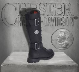 Harley-Davidson® Women's Performance Belhaven Knee-High Black Leather Boots, Wolverine D87082