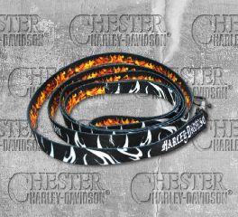 Harley-Davidson® 6 Feet Abstract Flames Sublimated Pet Dog Leash H0466-HAF06