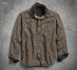 Harley-Davidson® Railroad Stripe Slim Fit Shirt 96283-18VM